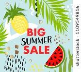 trendy tropic and fruit ... | Shutterstock .eps vector #1109549816