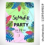 trendy tropic pattern cover....   Shutterstock .eps vector #1109549819