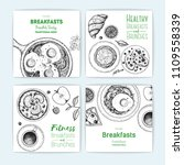 breakfast banner design... | Shutterstock .eps vector #1109558339