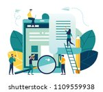vector flat illustration ... | Shutterstock .eps vector #1109559938