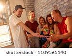 group of denser people having...   Shutterstock . vector #1109565140