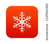 snowflake icon digital red for... | Shutterstock . vector #1109565383