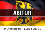 abitur on germany flag. germany ... | Shutterstock . vector #1109568710