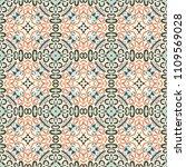 abstract seamless ornamental... | Shutterstock . vector #1109569028