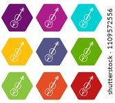 cello icon set many color... | Shutterstock . vector #1109572556