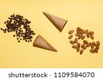 two waffle cups  scattered...   Shutterstock . vector #1109584070