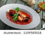high class healthy italian meal ... | Shutterstock . vector #1109585018