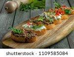 classic italian antipasti... | Shutterstock . vector #1109585084