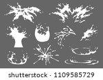 set of water  milk or yoghurt... | Shutterstock .eps vector #1109585729