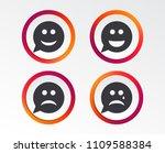 speech bubble smile face icons. ... | Shutterstock .eps vector #1109588384