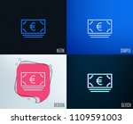 glitch  neon effect. cash money ... | Shutterstock .eps vector #1109591003