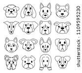 vector cartoon different type... | Shutterstock .eps vector #1109595230