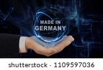 painted hand shows concept...   Shutterstock . vector #1109597036