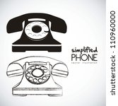 illustration of a rotary phone  ...