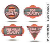 badge retro vector stamp... | Shutterstock .eps vector #1109600036