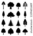 vector different types of trees ... | Shutterstock .eps vector #1109601689