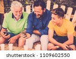 complete family caucasian... | Shutterstock . vector #1109602550