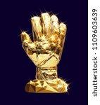 vector golden glove... | Shutterstock .eps vector #1109603639