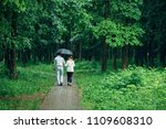 attractive couple under an...   Shutterstock . vector #1109608310