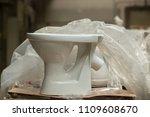 ceramic white toilet bowls in...   Shutterstock . vector #1109608670