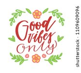 lettering text with flowers ... | Shutterstock .eps vector #1109609096