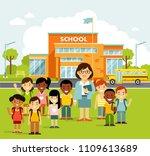 school building and school... | Shutterstock .eps vector #1109613689