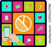 pie chart icon vector. | Shutterstock .eps vector #1109613788