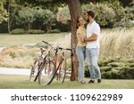 beautiful young couple in a... | Shutterstock . vector #1109622989