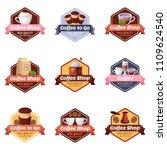 coffee shop vector logo  label  ...
