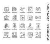 thin line design icons set | Shutterstock .eps vector #1109627093