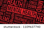 mental health words background | Shutterstock .eps vector #1109637740