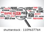 graphic design word background... | Shutterstock .eps vector #1109637764