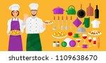 flat illustrations of cooks ...   Shutterstock .eps vector #1109638670