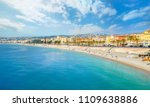 panoramic view of beach and... | Shutterstock . vector #1109638886