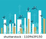 business people running up to... | Shutterstock .eps vector #1109639150