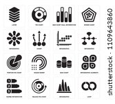set of 16 icons such as loop ...