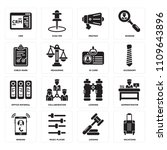 set of 16 icons such as... | Shutterstock .eps vector #1109643896