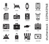 set of 16 icons such as online...