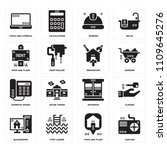 set of 16 icons such as cooling ...