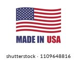 american flag and text made in... | Shutterstock .eps vector #1109648816