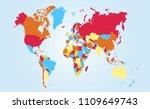 color world map vector   Shutterstock .eps vector #1109649743