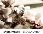 purple vintage perfume bottle | Shutterstock . vector #1109649980