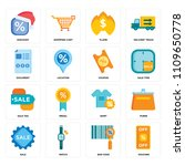 set of 16 icons such as voucher ...