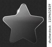 transparent luster crystal... | Shutterstock .eps vector #1109652839