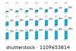 set of blue percentage charts... | Shutterstock .eps vector #1109653814