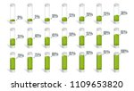 set of green percentage charts... | Shutterstock .eps vector #1109653820