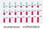 set of red pink percentage... | Shutterstock .eps vector #1109653823