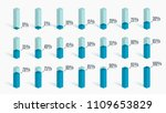 set of blue percentage charts... | Shutterstock .eps vector #1109653829