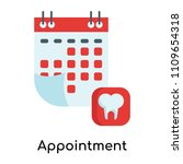 appointment icon vector... | Shutterstock .eps vector #1109654318