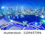 the concept of digital wifi... | Shutterstock . vector #1109657396